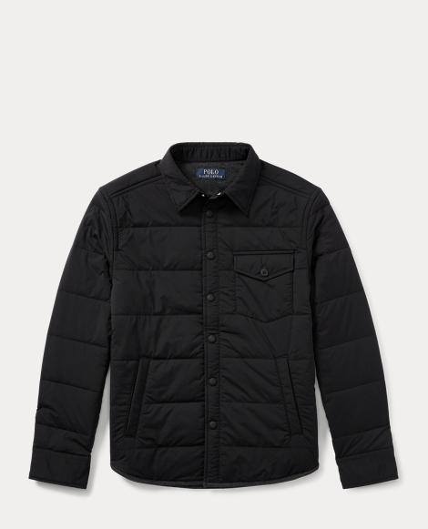 Quilted Stretch Shirt Jacket