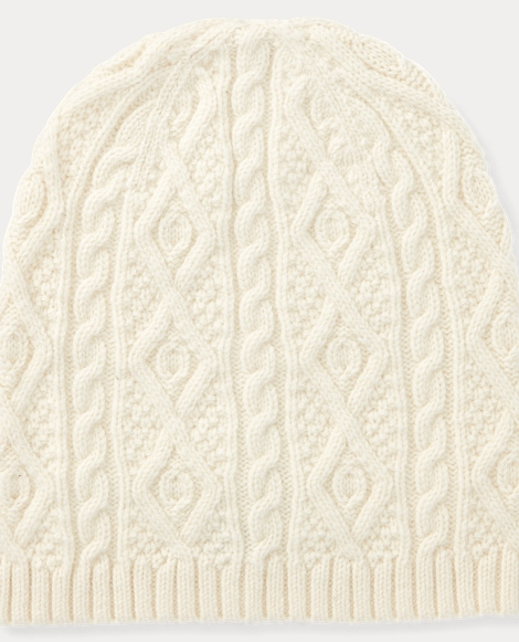 Aran-Knit Wool-Cashmere Hat