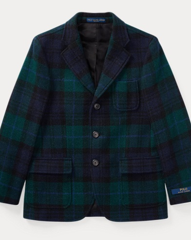 Plaid Wool Sport Coat