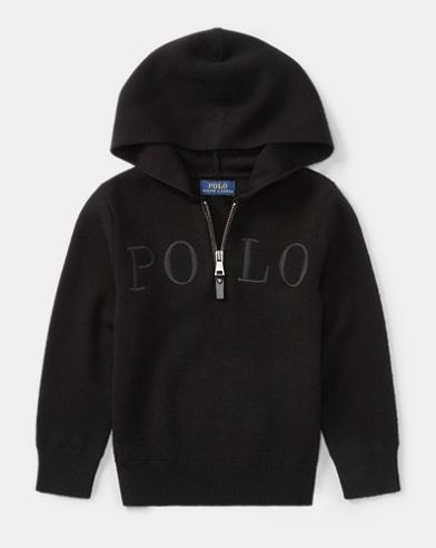 Merino Wool Half-Zip Hoodie