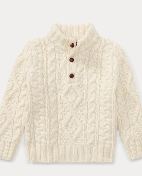 Aran Wool-Cashmere Sweater
