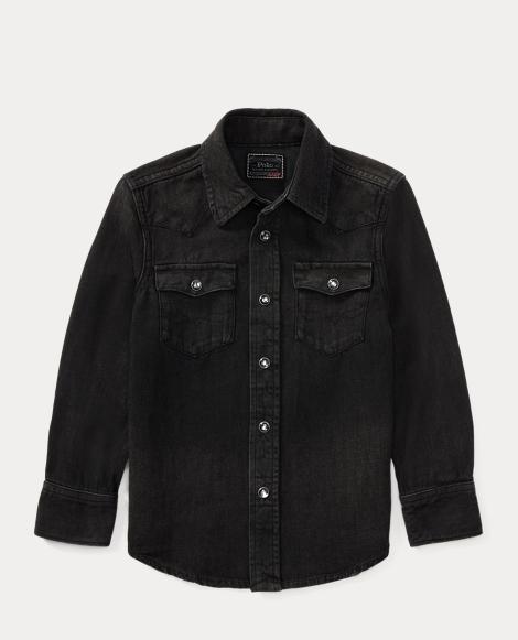 Cotton Denim Western Shirt