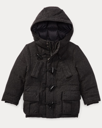 Wool-Blend Down Jacket