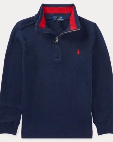 French-Rib Half-Zip Pullover