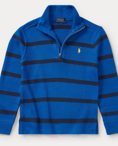 Striped French-Rib Pullover