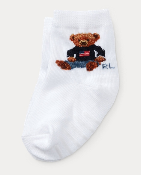 Flag Polo Bear Socks