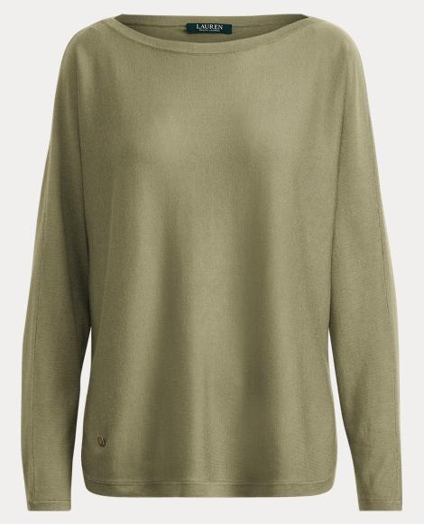 Modal-Silk Boatneck Sweater