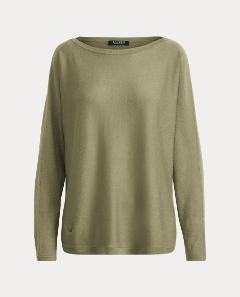 Modal-Silk Boatneck Sweater