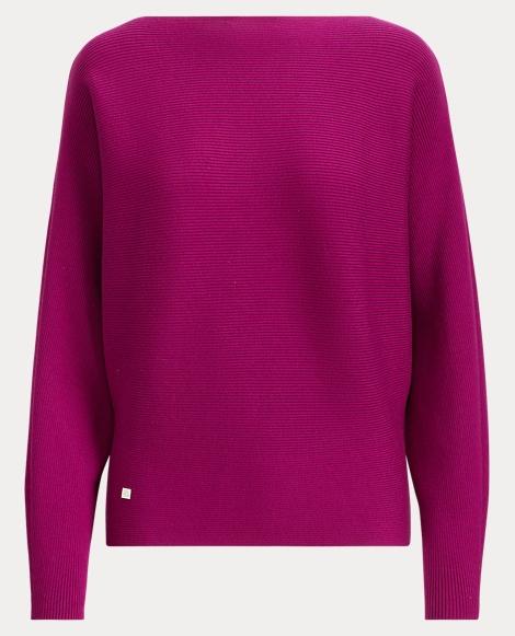 Cotton-Blend Dolman Sweater