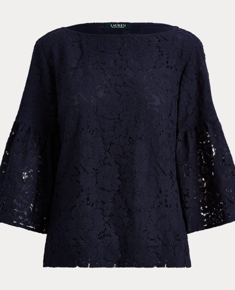 Lace Boatneck Top
