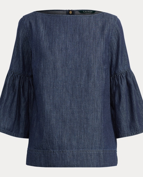 Denim Boatneck Shirt