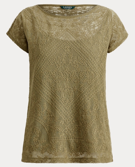 Embroidered Sheer Top