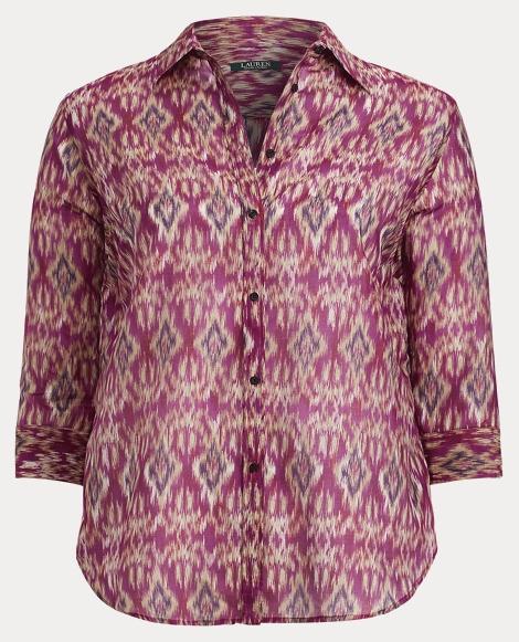 Ikat Cotton-Silk Voile Shirt