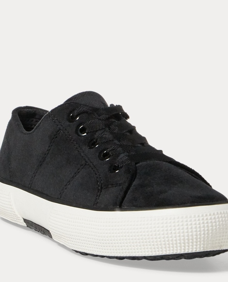 Jolie Velvet Low-Top Sneaker