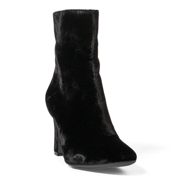 Ralph Lauren Bridgett Velvet Boot Black 10