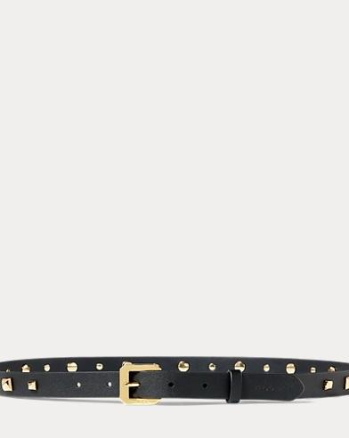 Dryden Studded Leather Belt