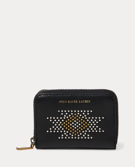 Studded Leather Small Wallet