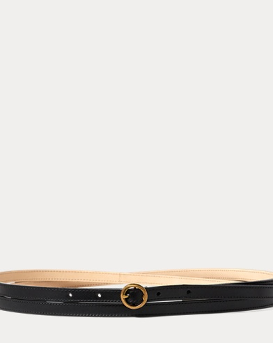 Lennox Leather Skinny Belt