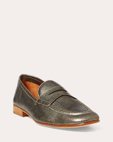 Ashtyn Metallic Leather Loafer