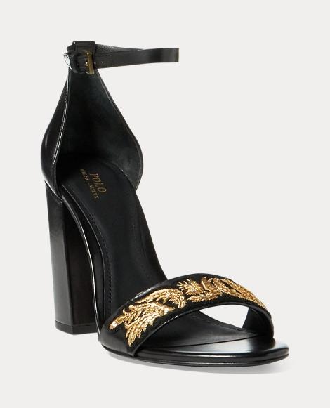 Kierra Bullion Calfskin Sandal