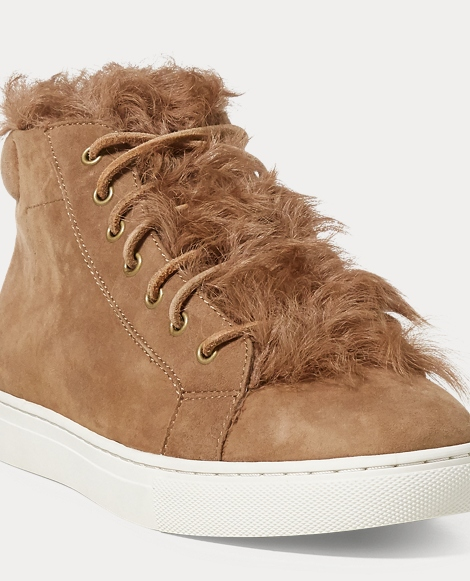 Dree Shearling-Suede Sneaker