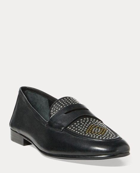 Ashtyn Studded Leather Loafer