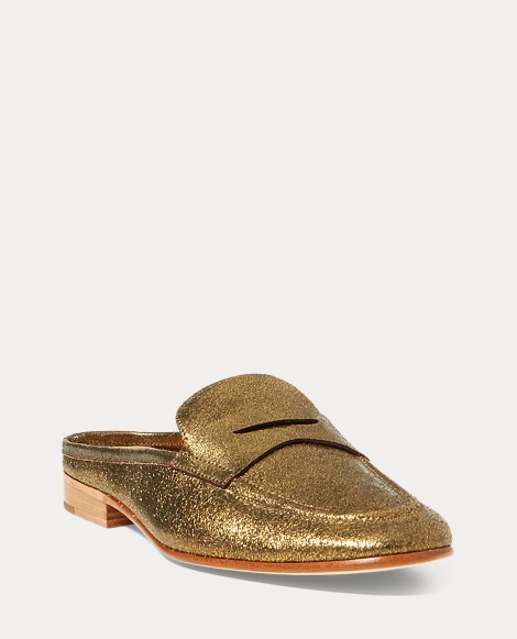 Ashlyn Metallic Loafer Mule