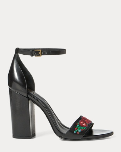 Kierra Floral Leather Sandal