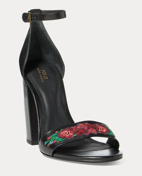 Kierra Floral Leather Sandal