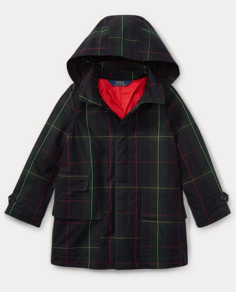 Plaid Water-Resistant Jacket