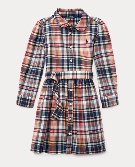 Plaid Cotton Madras Shirtdress
