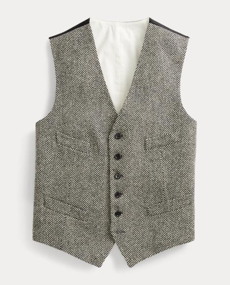 Wool-Blend Herringbone Vest