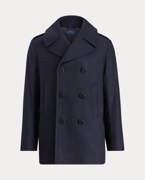 Virgin Wool-Blend Peacoat