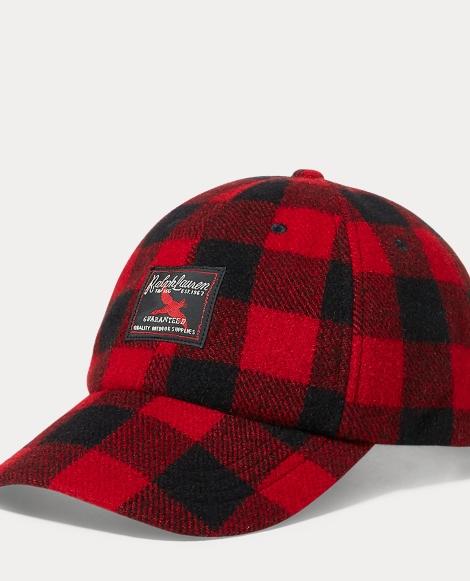 Buffalo Check Wool-Blend Cap