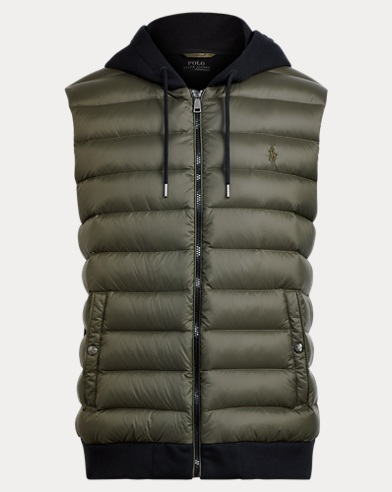 Down-Panel Double-Knit Vest