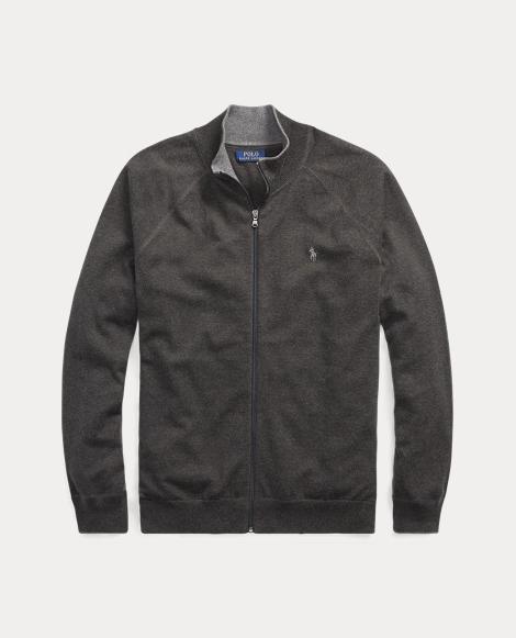 Cotton Full-Zip Sweater