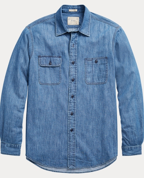 Classic Fit Denim Workshirt