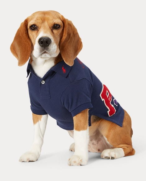 Patch Cotton Dog Polo Shirt