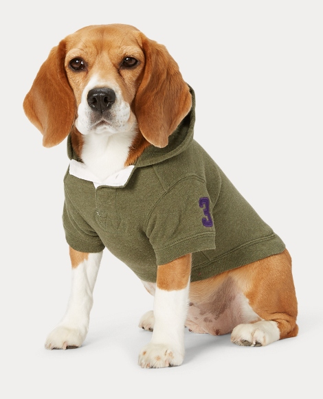Big Pony Fleece Dog Hoodie