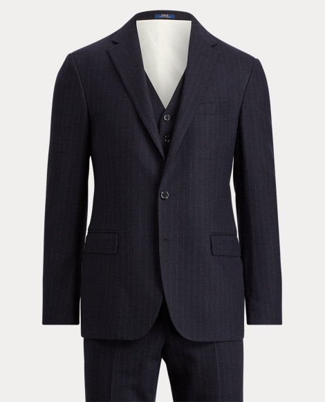 Polo Striped Wool 3-Piece Suit