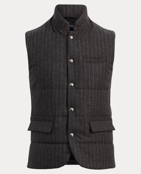 Striped Wool Down Vest