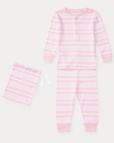Striped Cotton Sleep Set