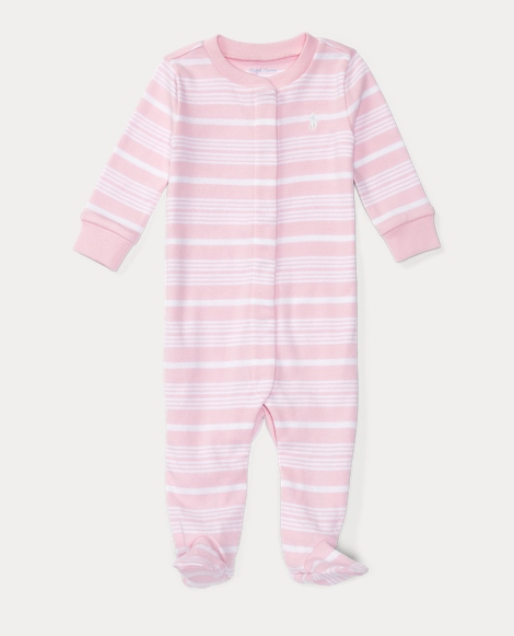 Striped Cotton Sleep Coverall
