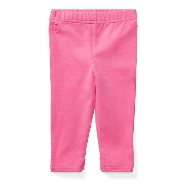 Ralph Lauren Bow-Back Jersey Legging Baja Pink 3M