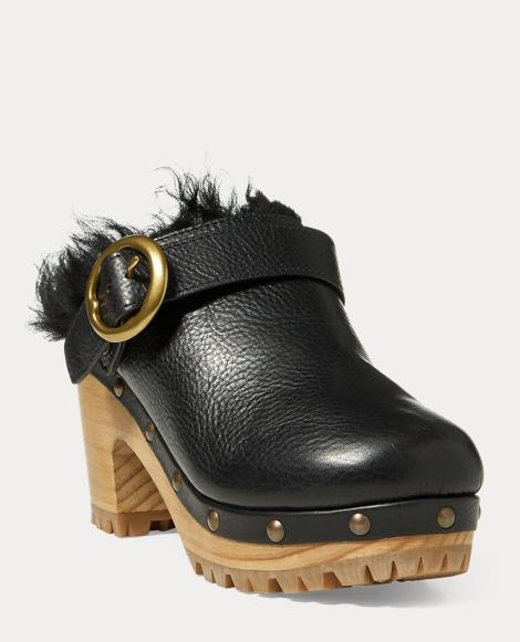 Jadyn Shearling-Leather Clog