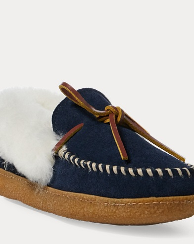 Marcie Suede Moccasin Slipper