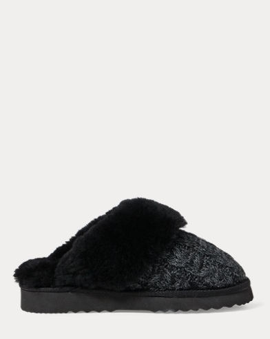 Charlotte Cable-Knit Slipper