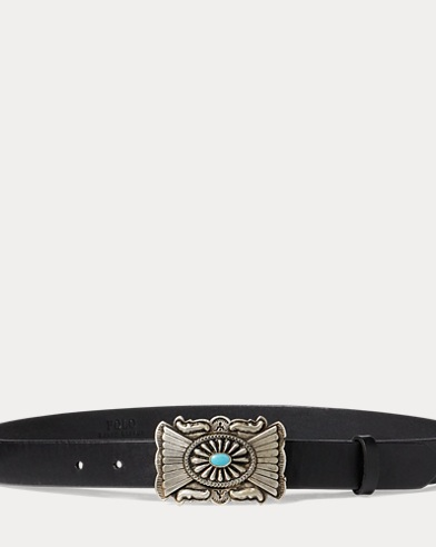 Concho-Plaque-Buckle Belt