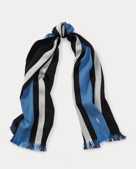 Collegiate Striped Wool Scarf
