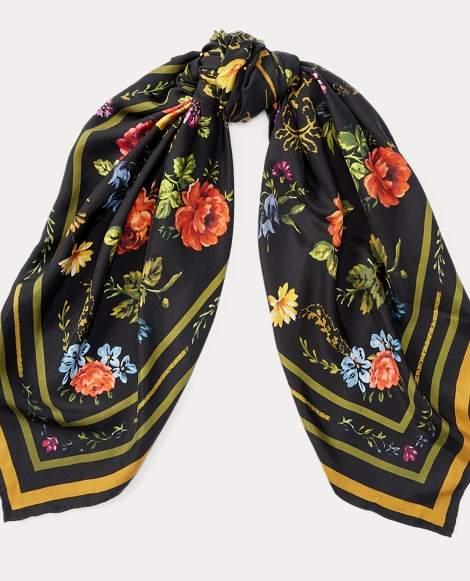 Floral Wool Scarf